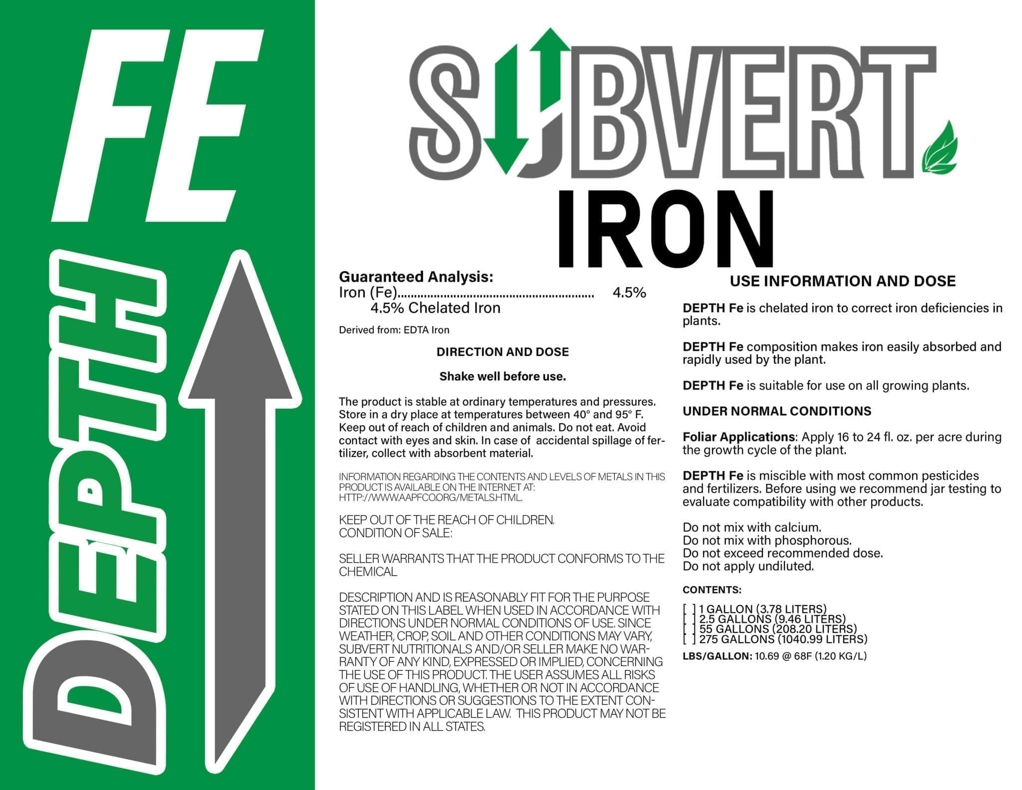 DEPTH EDTA Iron